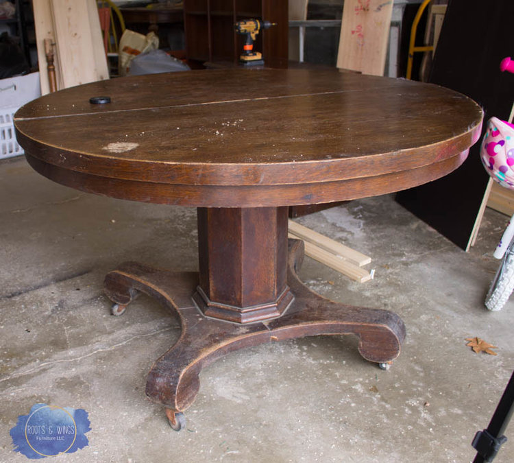 Pedestal kitchen table makeover roots wings furniture llc kitchen table 1g workwithnaturefo