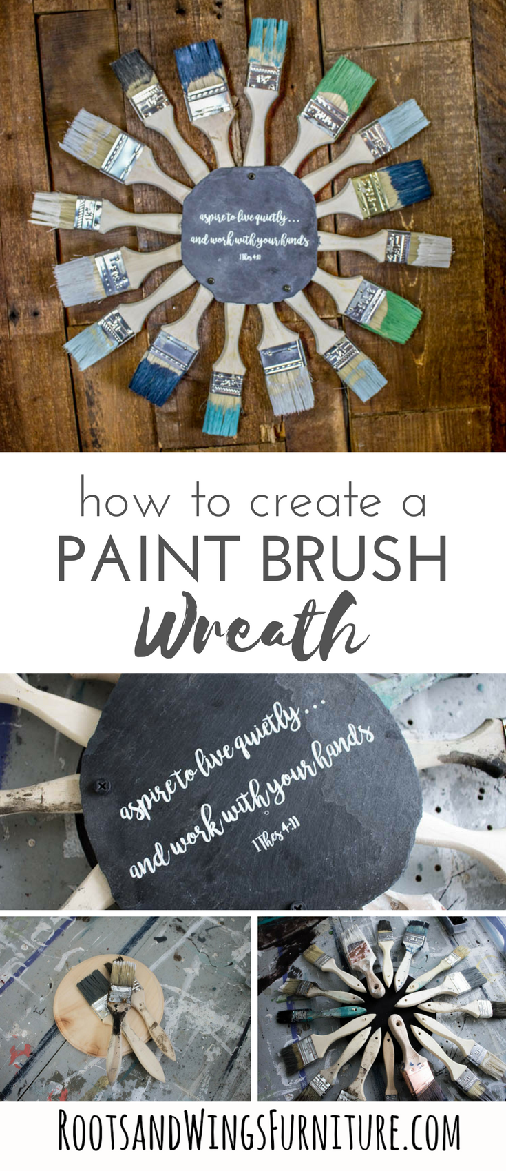 http://www.rootsandwingsfurniture.com/blog/paintbrushwreath