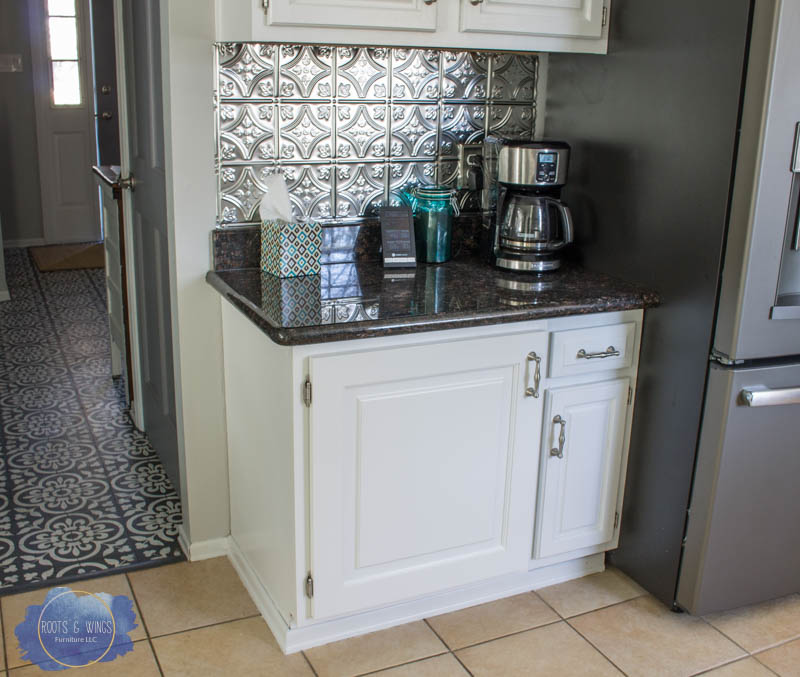 A Painted Kitchen And Tin Backsplash Install Roots