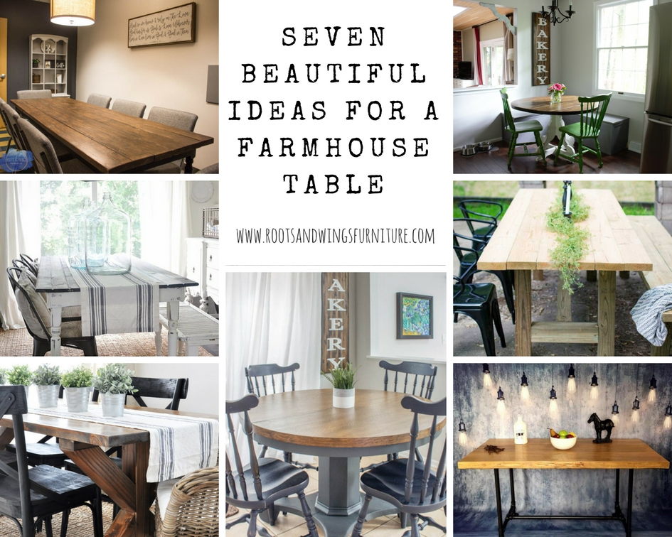 Charming Seven Beautiful Ideas For A Farmhouse Table U2014 Roots U0026 Wings Furniture LLC Design Ideas