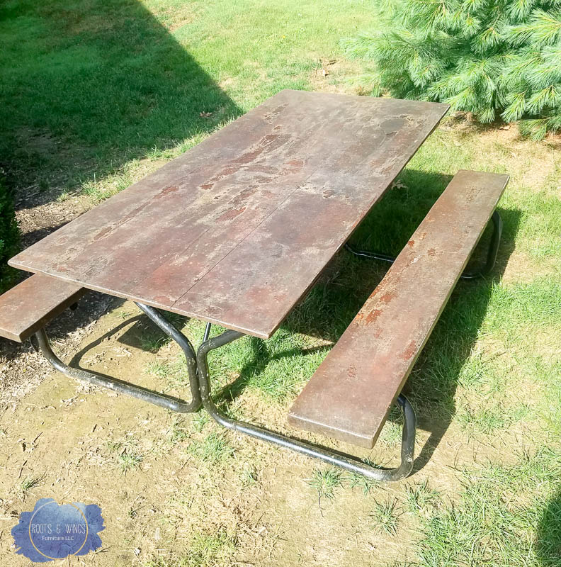 cedar picnic table furniture refinishing  roots and wings furniture -1.jpg