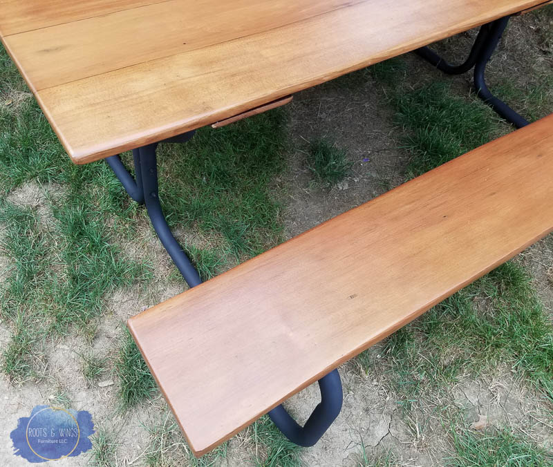 Cedar Picnic Table Furniture Refinishing Roots And Wings Furniture  4