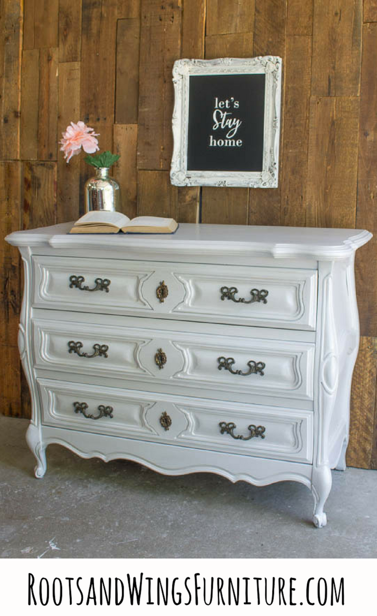 WOOD DRESSER MAKEOVER_SILVER PEARL by Roots and Wings Furniture Beauty Pin.png