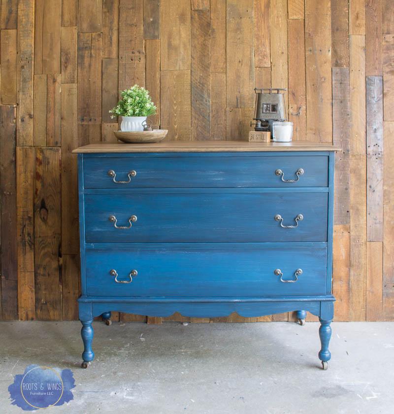 Dark Wash Denim Dresser Roots And Wings Furniture  3