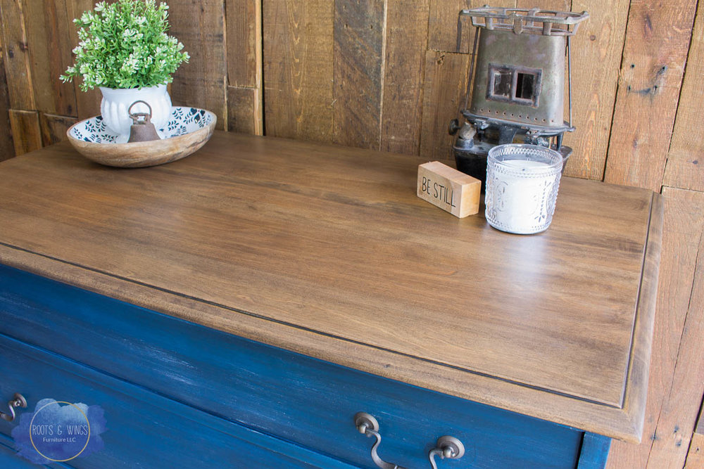 Dark Wash Denim Dresser Roots And Wings Furniture  6