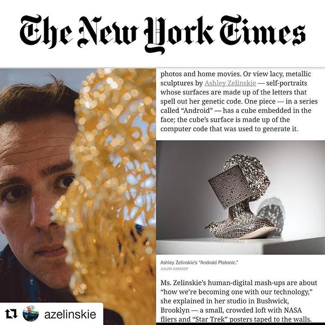 LTG founding member @azelinskie's work featured in the New York Times! Check out her show at Sotheby's with @Bunkergallery through August 10th  #nytimes #nytimesart #sothebysart