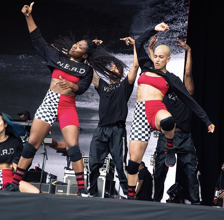 Custom Shorts and Bras for N.E.R.D Dancers on Tour