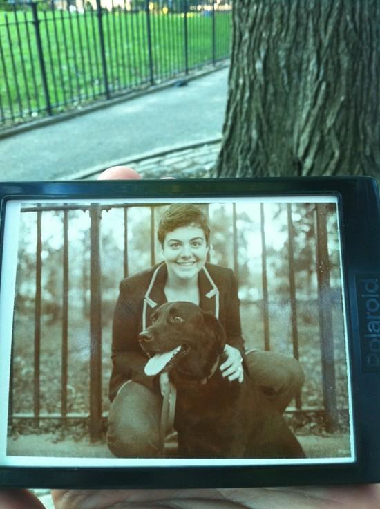 NY Dog Portraits, Tompkins Square (Polaroid Sepia)