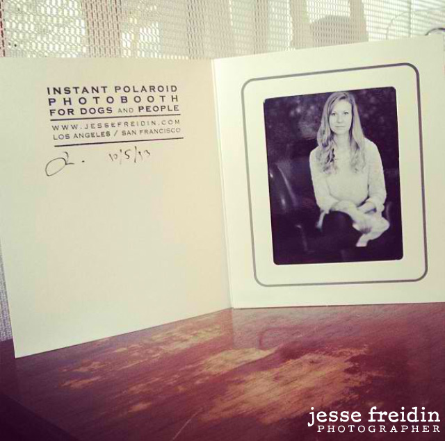 Photo booth with real polaroid film analog photographer Jesse Freidin