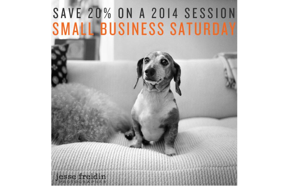 Small Business Saturday 20% SAVINGS