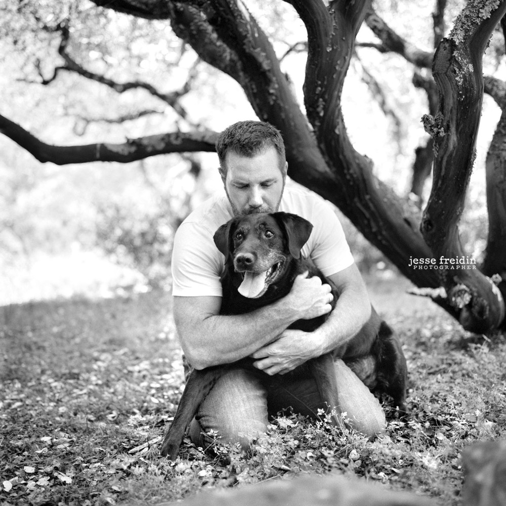 A very deeply loved senior Chocolate Lab, photographed in Sonoma, CA not long before he crossed the rainbow bridge. What a moving photography session.