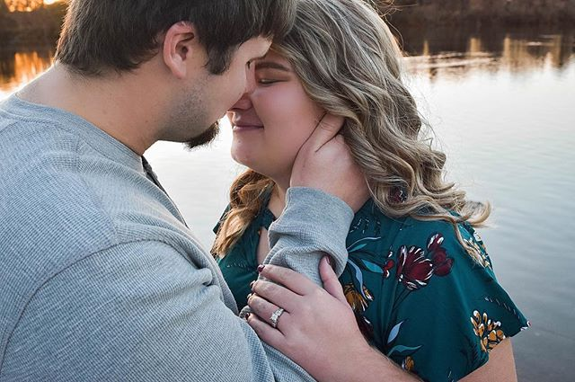 I love you because the entire universe conspired to help me find you. -the Alchemist • • Brandon and McKenzie waited with me for the perfect light and it was so very worth it! See more of from their engagement session on our InstaStory 🖤 •