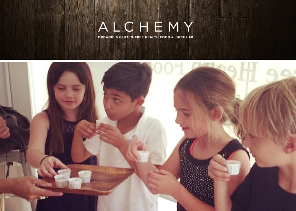 Alchemy Health Food + West Hollywood Elementary; students creating seasonal smoothies for their school.