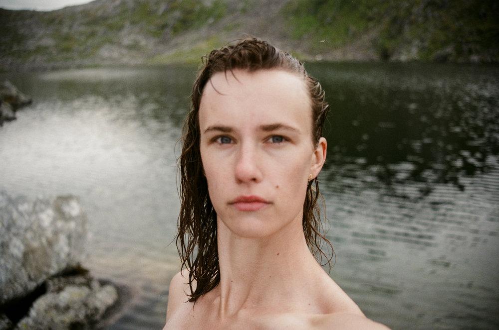 Alpine lake dip