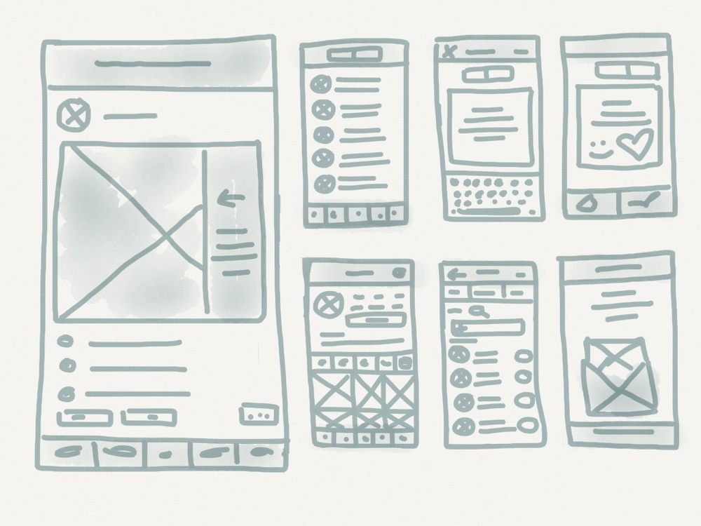 Paper by FiftyThree makes an awesome app for low-fi wireframing!