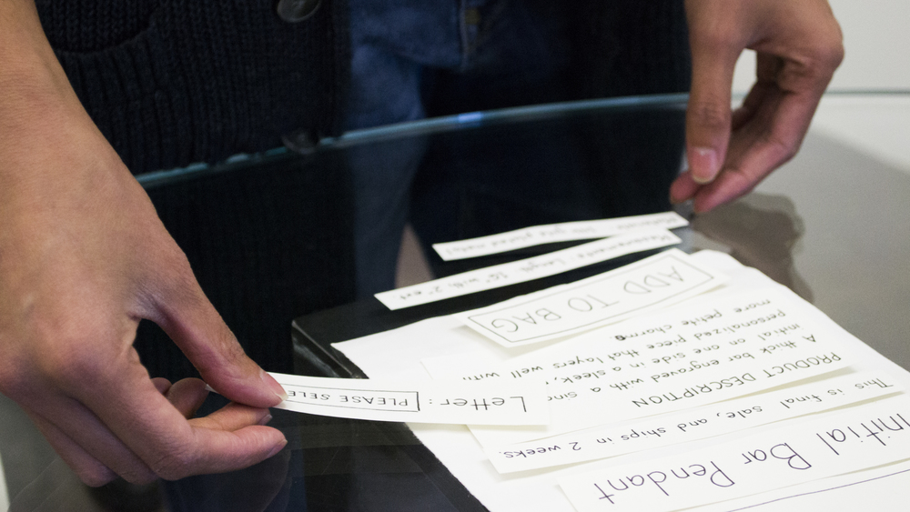 Having users paper prototype helps us understand where their priorities lie.