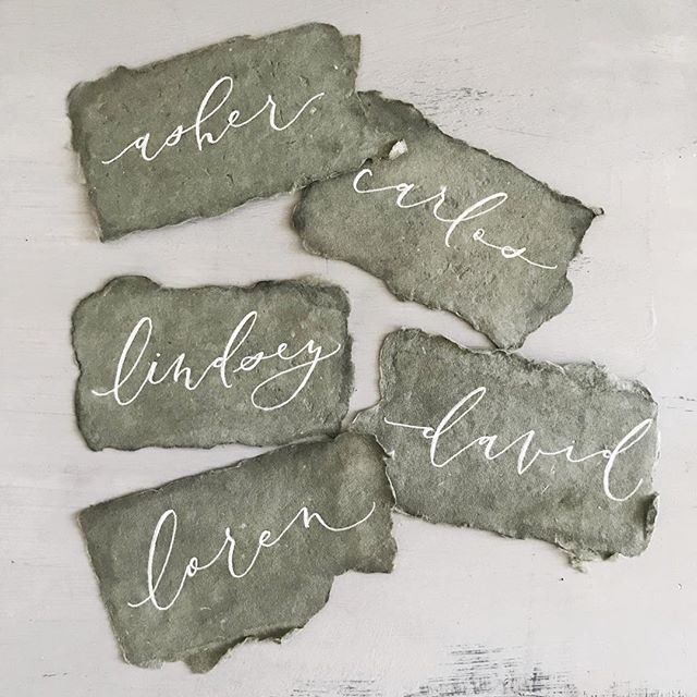 happy friday from me and these unbelievably lovely handmade paper place cards!