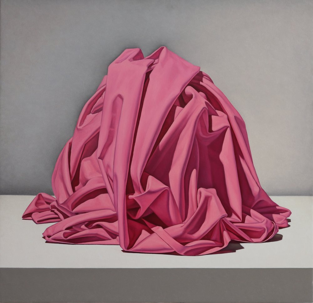 WFA Spotlight - Pink Unknown by Tom Greggoil on panel, 28x29 inches