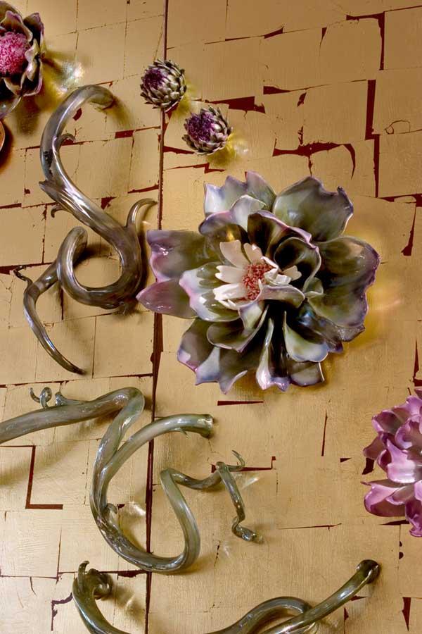 Peony Wall by Linda Lighton