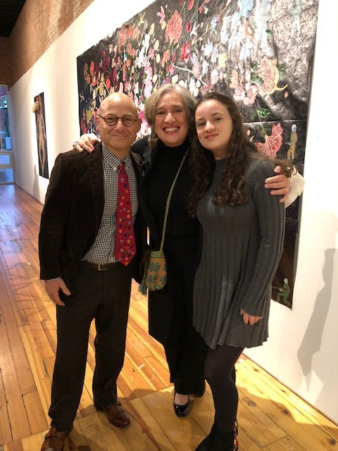 Familia: Charley Friedman, Nancy Friedemann - Sánchez, and their daughter Nina