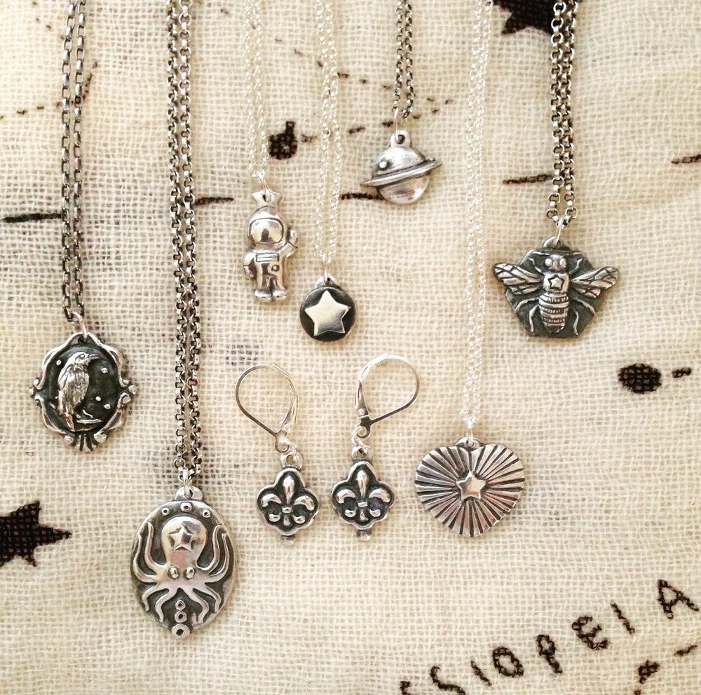 Laura Zatt's jewelry is available at the Artisans' Co-op.
