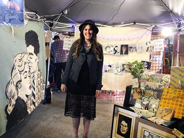 This cutie has a booth at @firstfridaylv ! @smashley_s #emergencyarts #ashleymartin #smashstudioart#firstfridaylv