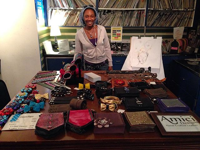 Hand crafted leather by Amici Designs available for sale! #secondsaturday #emergencyarts #fremonteast #dtlv