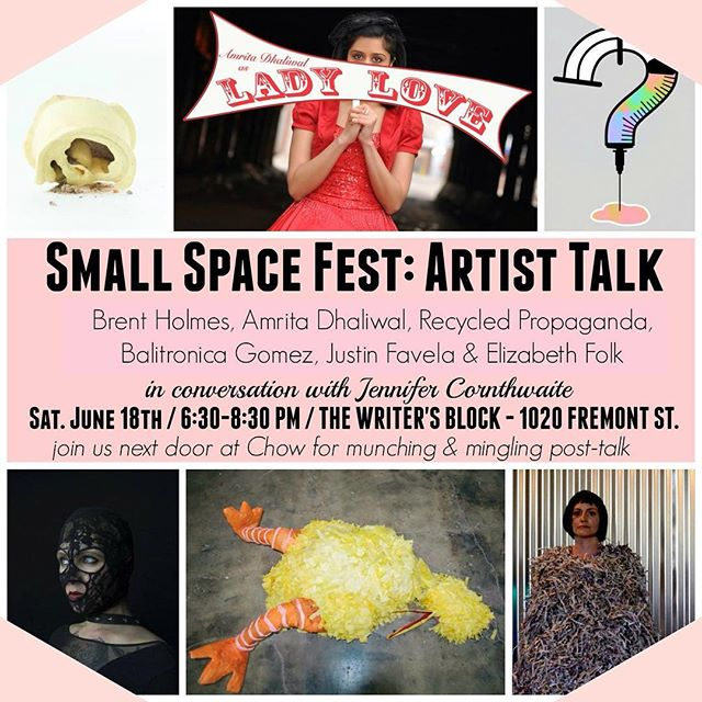 This Saturday at The Writer's Block. Be there! #smallspacefest #thewritersblock