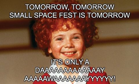 Tomorrow, tomorrow! We love ya, tomorrow!!! One more day!!!!#smallspacefest #emergencyarts #dtlv #lasvegas #art #performace #sincity #artfestival