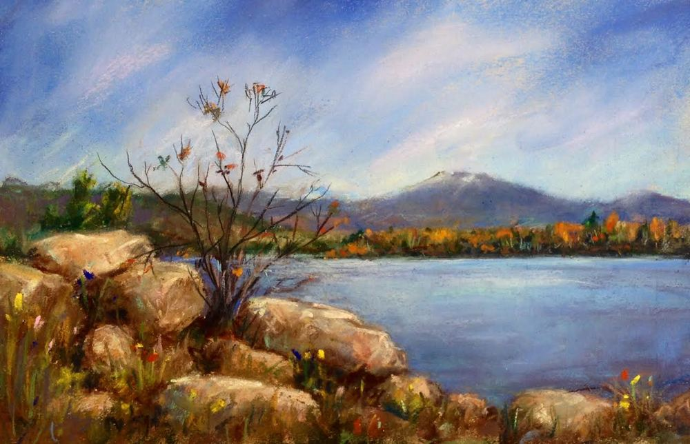 Stones by the River 8x10 Pastel