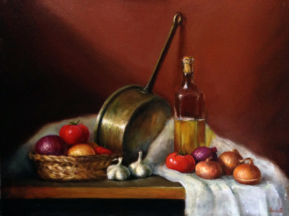 Still life with vegetables 14x18 Oil on canvas