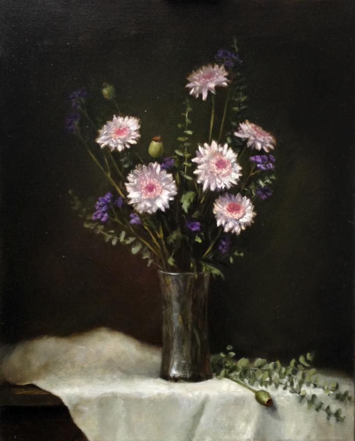 Mums 16x20 Oil on canvas