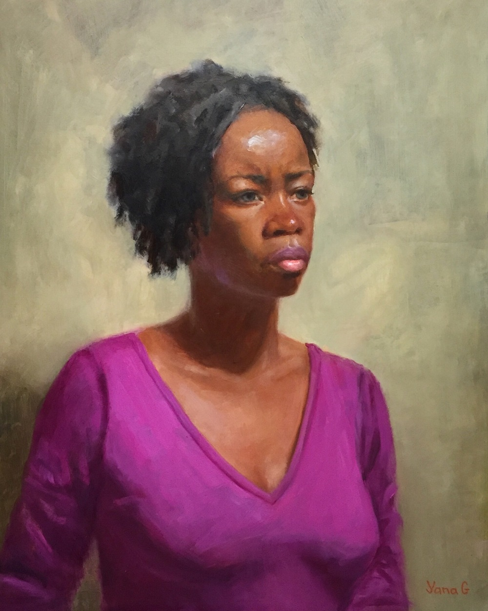 Connie 14x18 Oil on board