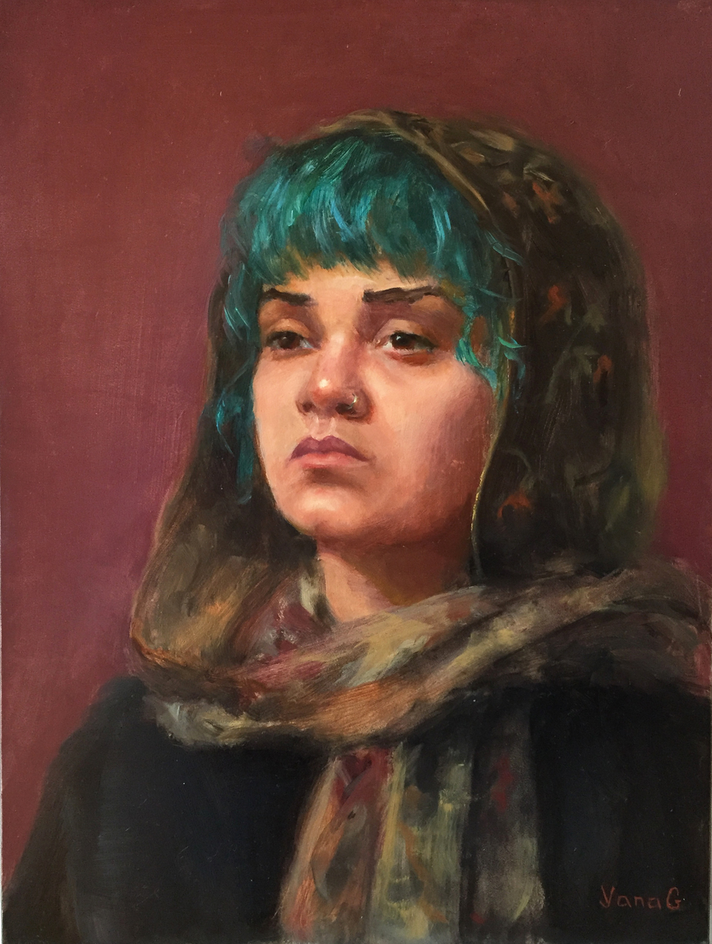 Maya 9x12 Oil on board