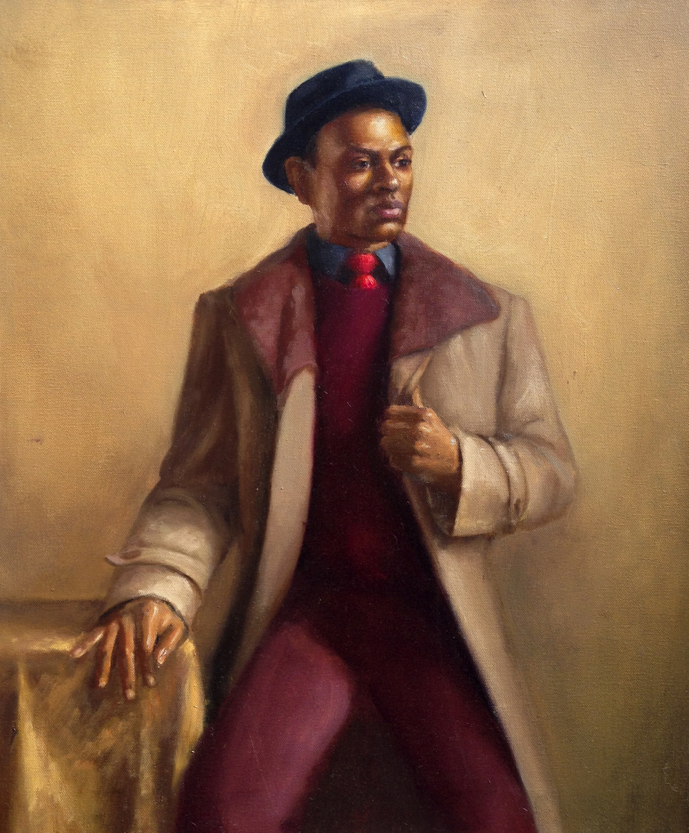 Man in the Coat 20x24 Oil on canvas