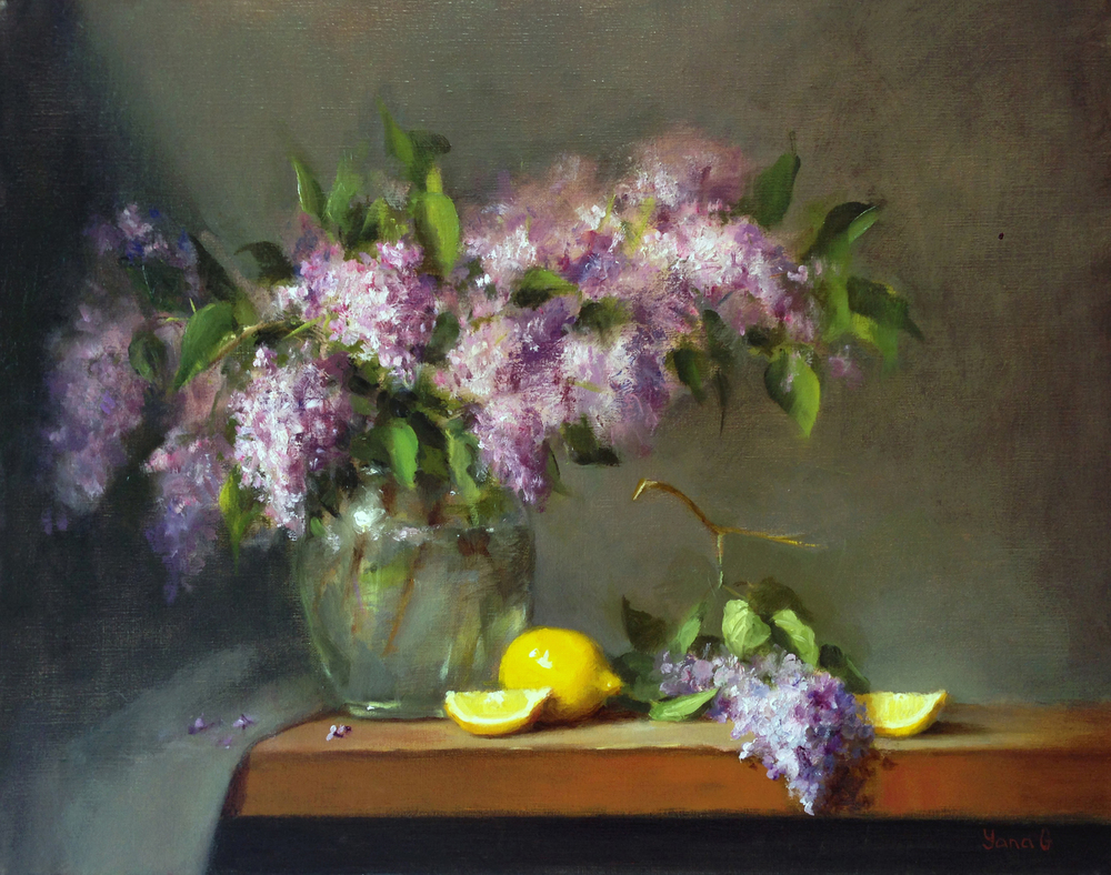 Lilacs 16x20 Oil on linen