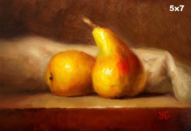Pears 5x7 Oil on board