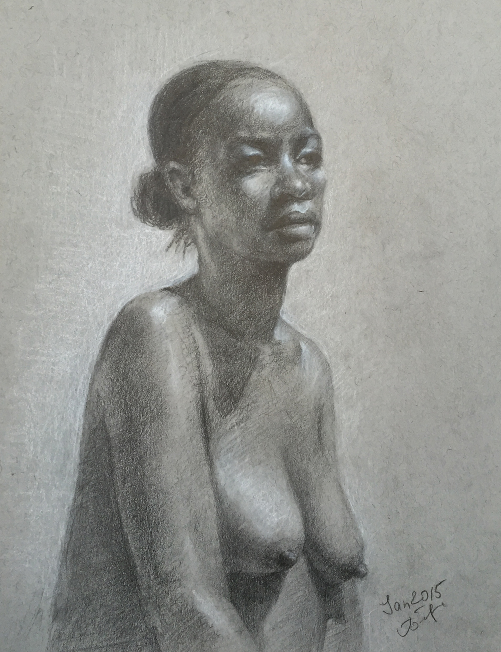 Connie 9X12 Graphite pencil
