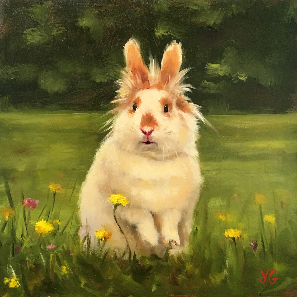 Alice 6x6 Oil on board