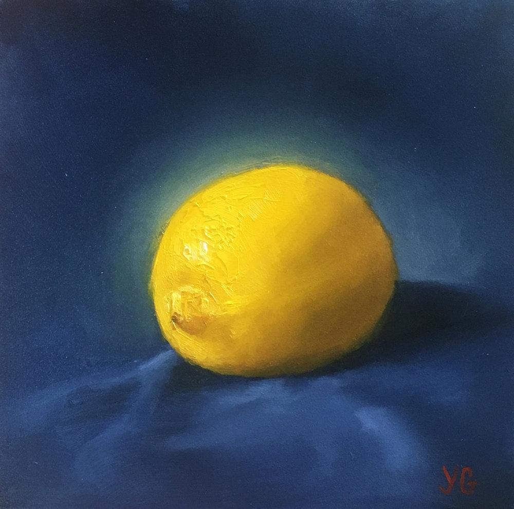 Lemon 6x6 Oil on board