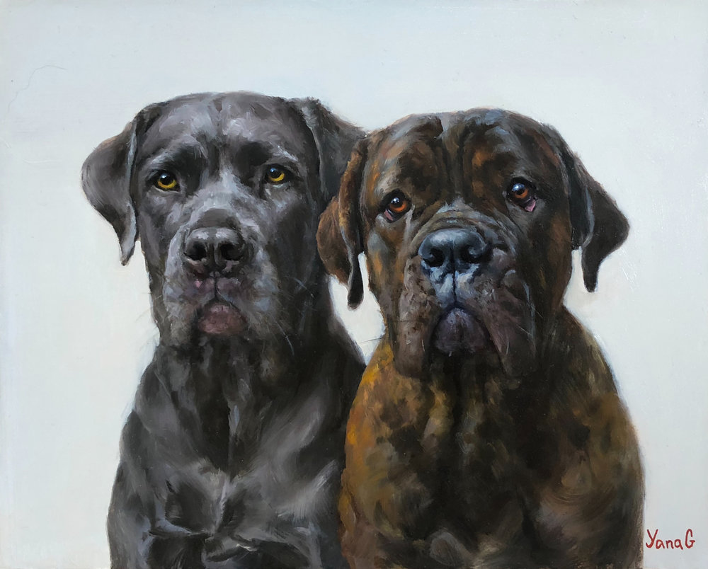 Tyson and Mai  8x10 Oil on board