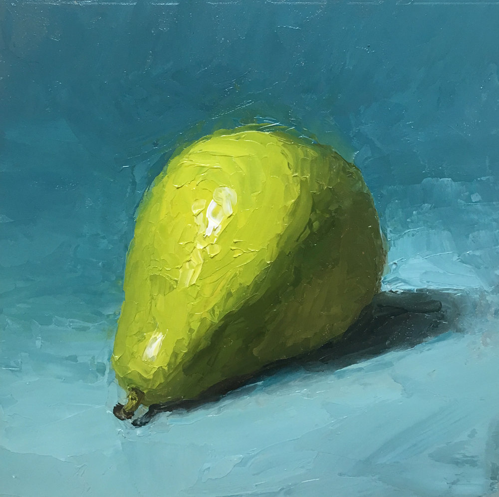 Pear 6x6 Oil on board