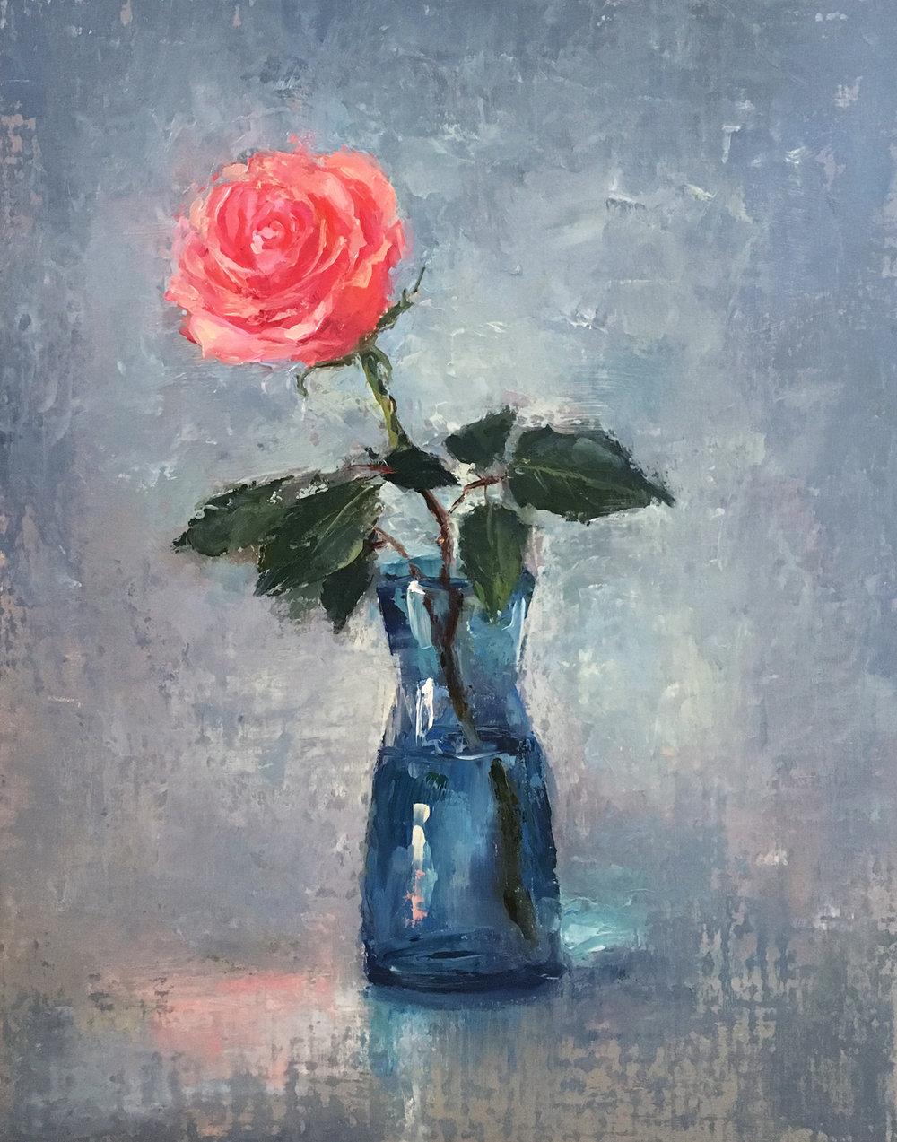 Rose 11x14 Oil on linen board
