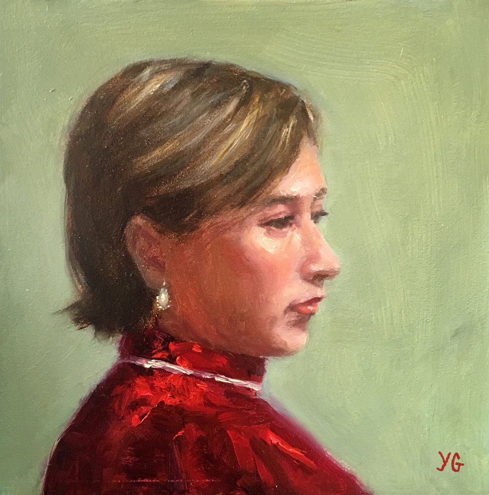 Maria 6x6 Oil on board