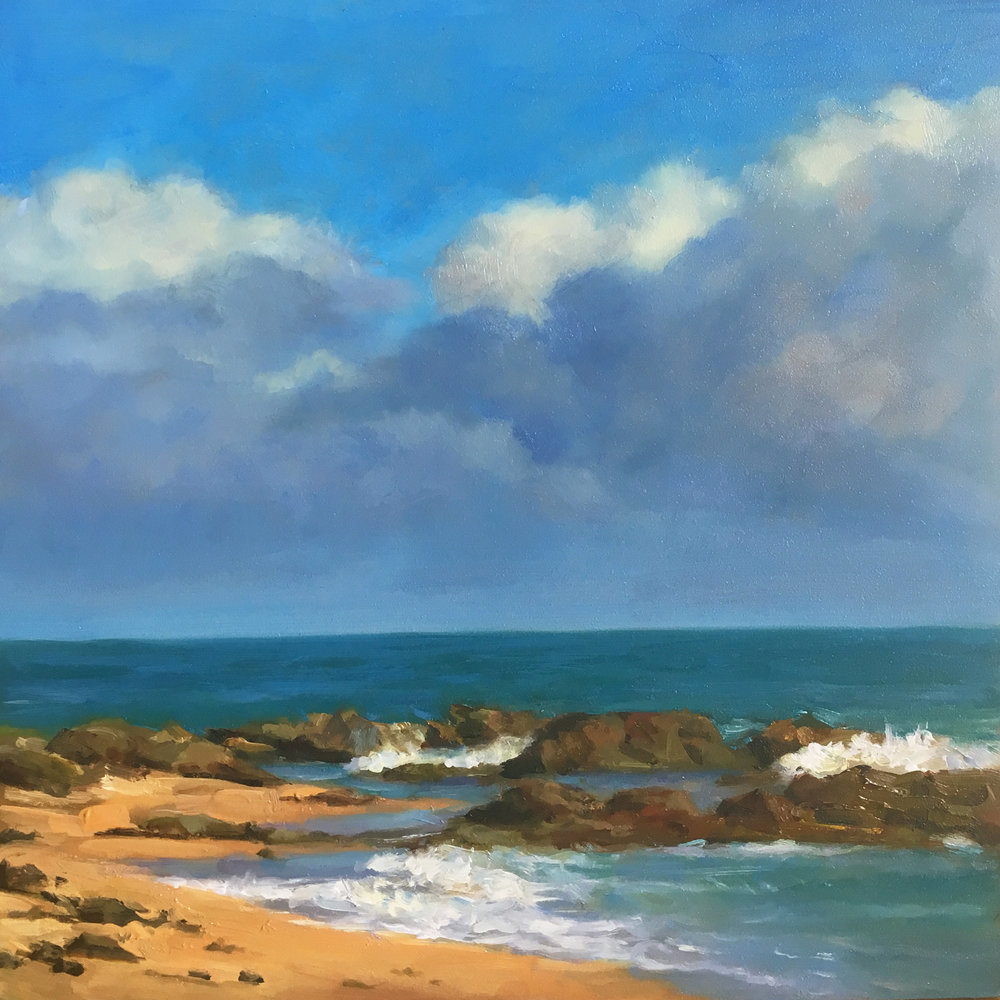 Seascape 8x8 Oil on board