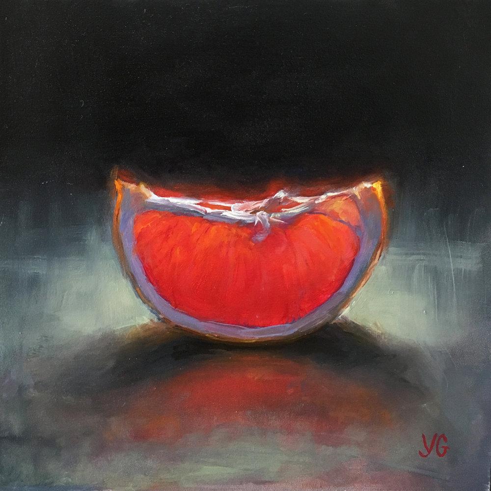 Grapefruit Slice 6x6 Oil on board