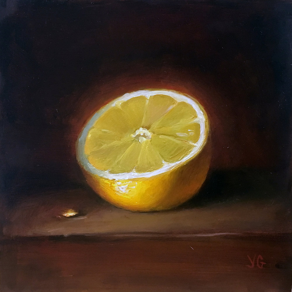 Lemon  6x20 Oil on board