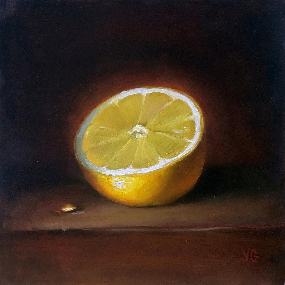 Lemon  6x20 Oil on board