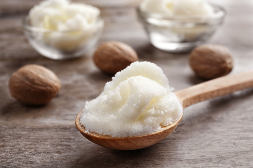 Shea Butter contains rich fatty acids.