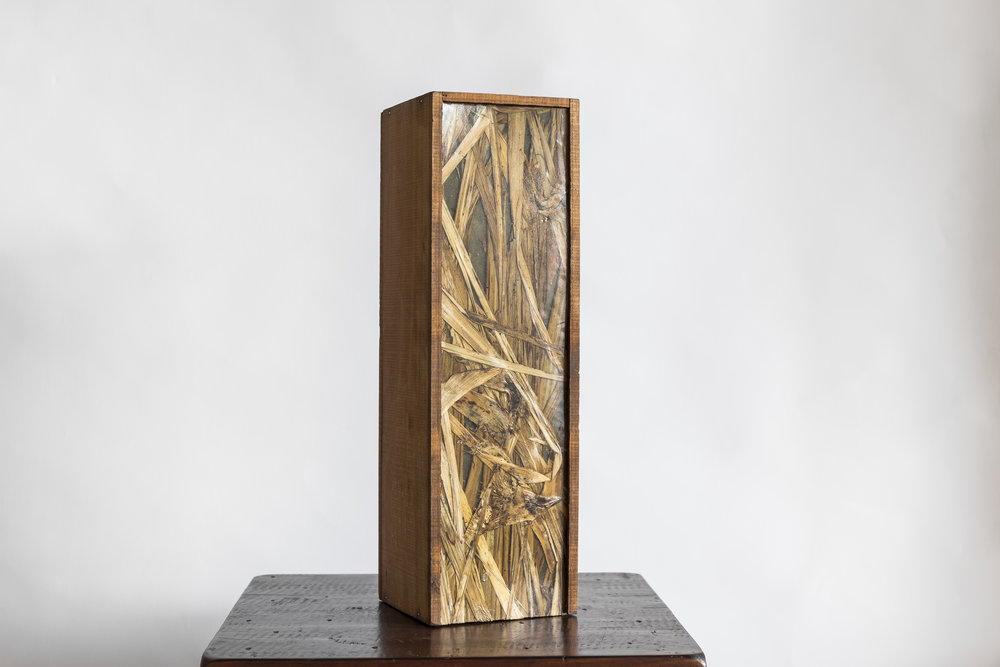 Native Light Box   Materials: Ti Kouka veneer / Stained Pine box  Size: 300mm H /100mm W / 100mm L  Light Source: Warm White LED strip with dimmer and power pack  Enquire for Price  Handcrafted in New Zealand